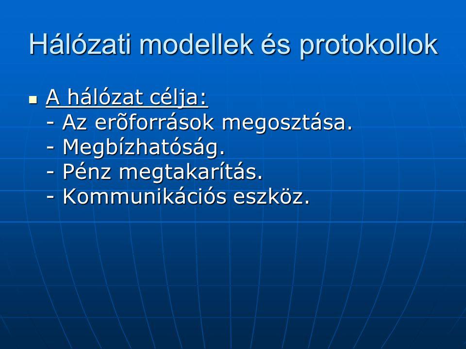 Hálózati modellek és protokollok