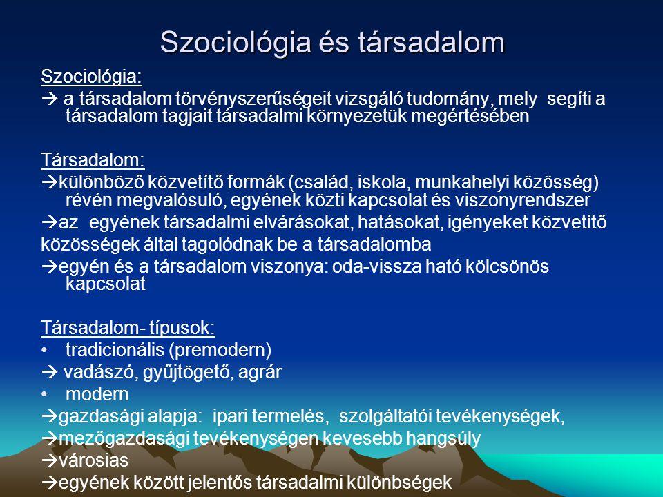 Szociológia és társadalom