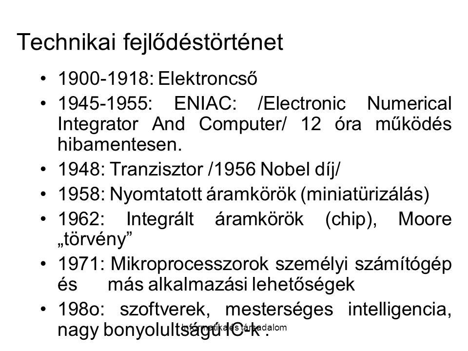 Technikai fejlődéstörténet