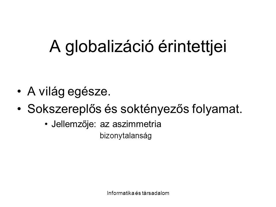 A globalizáció érintettjei