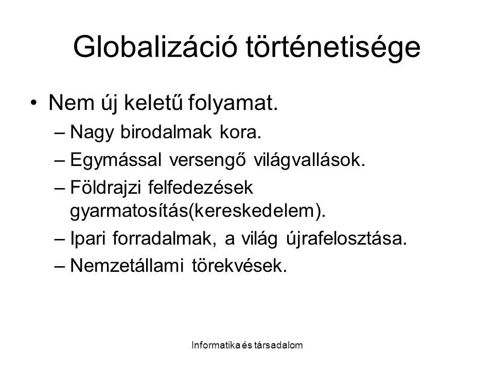 Globalizáció történetisége