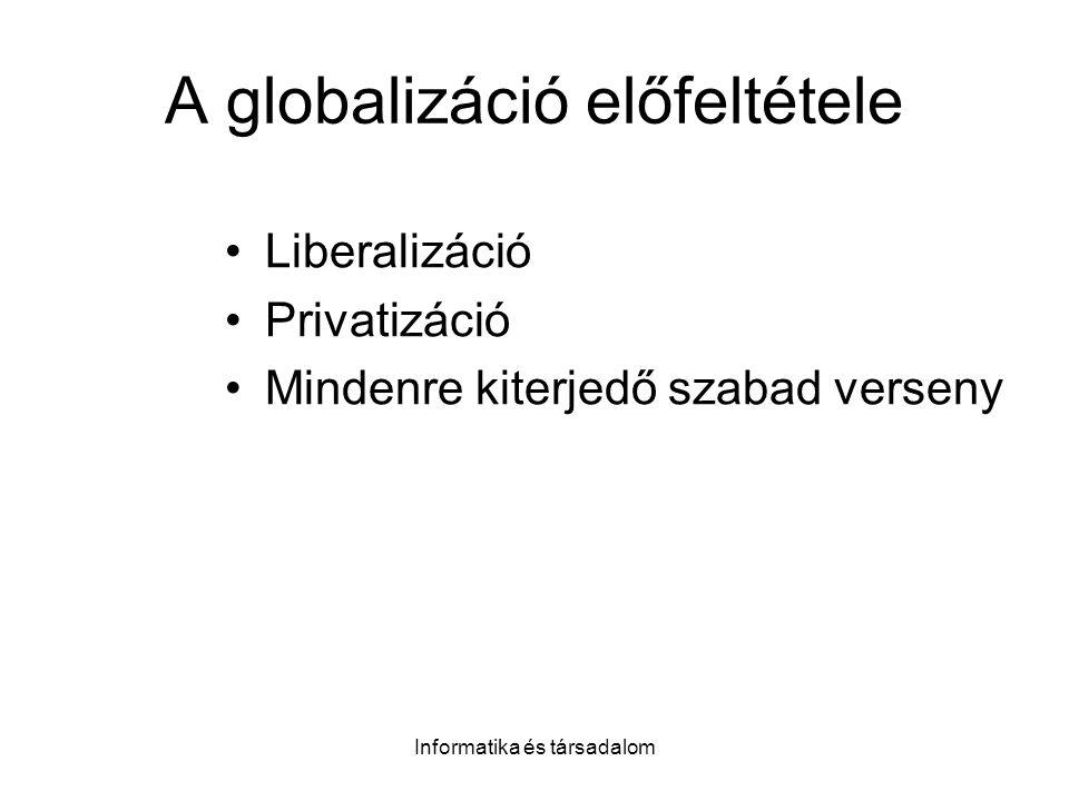 A globalizáció előfeltétele