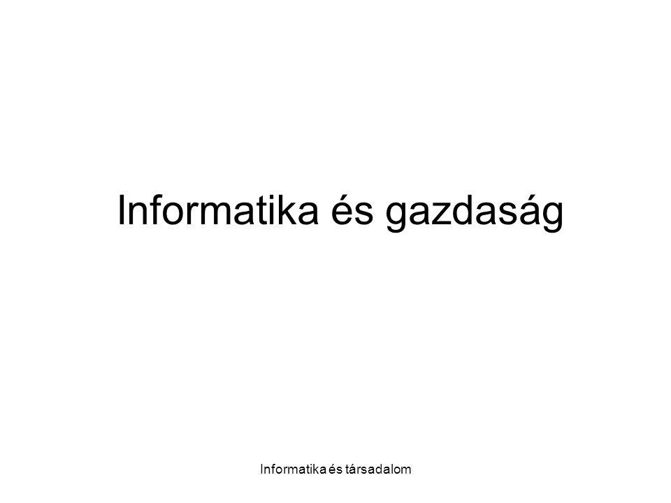 Informatika és gazdaság
