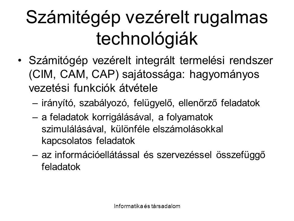 Számitégép vezérelt rugalmas technológiák