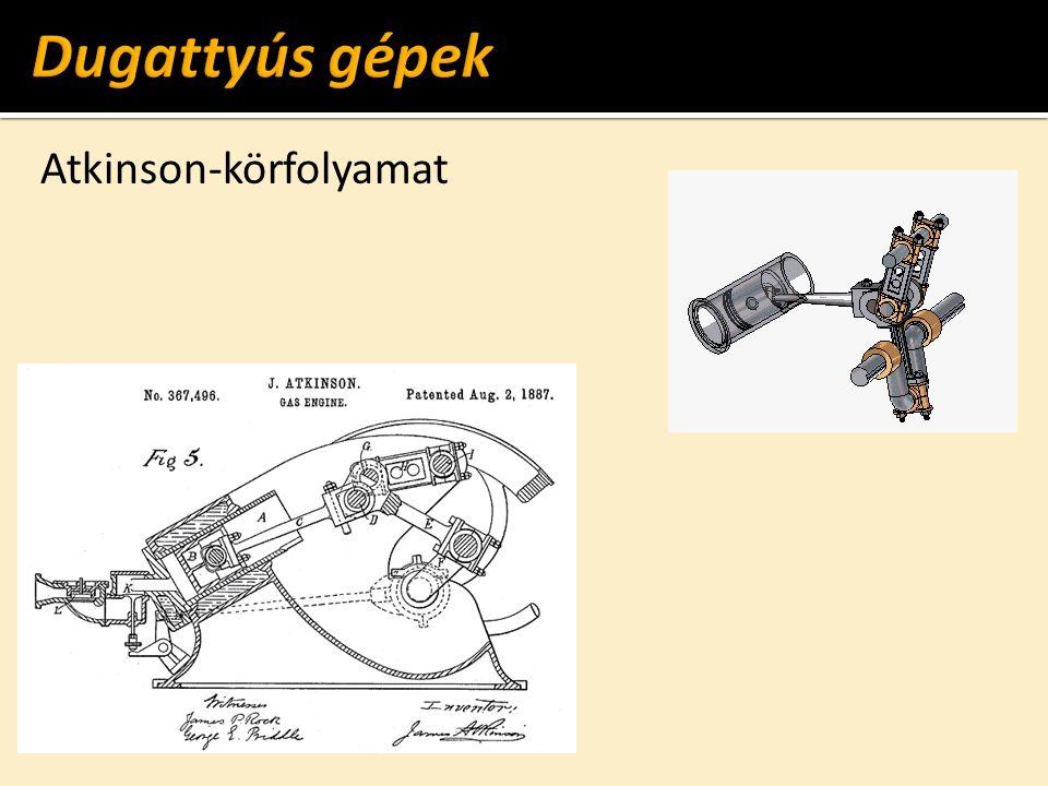 Dugattyús gépek Atkinson-körfolyamat