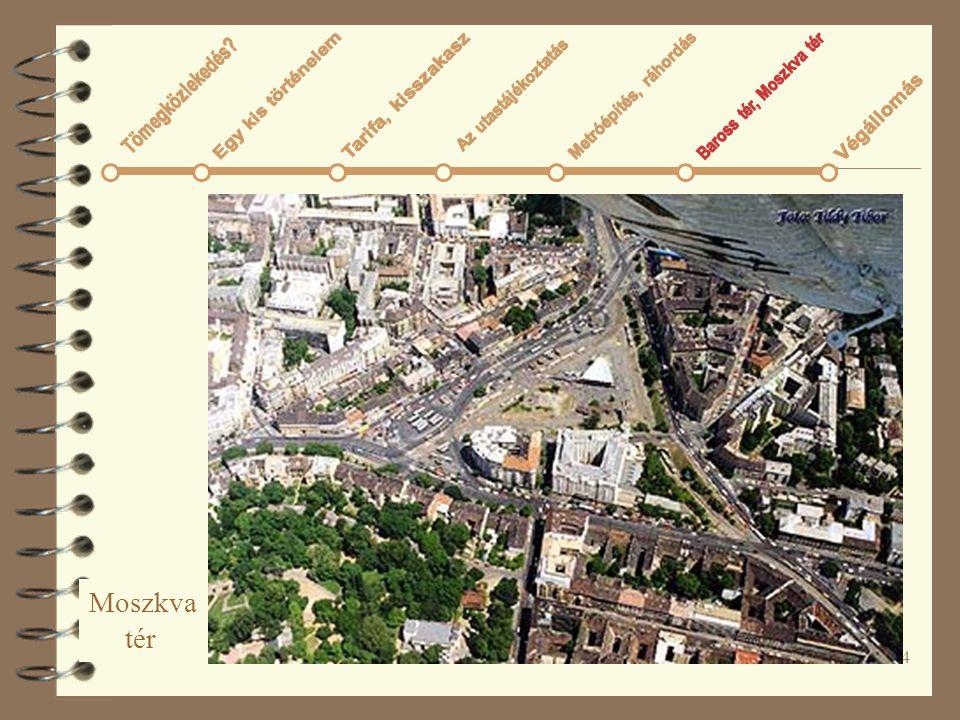 Moszkva tér Tömegközlekedés Az utastájékoztatás Metróépítés, ráhordás