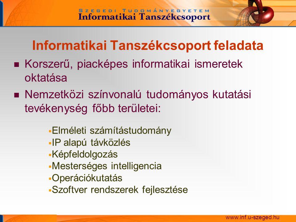 Informatikai Tanszékcsoport feladata