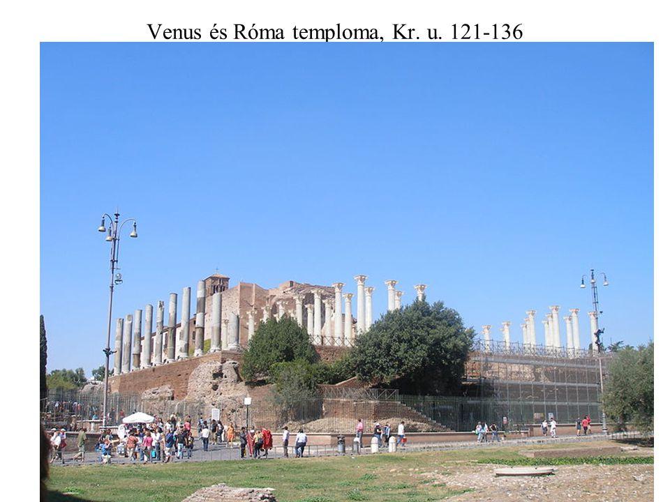 Venus és Róma temploma, Kr. u. 121-136