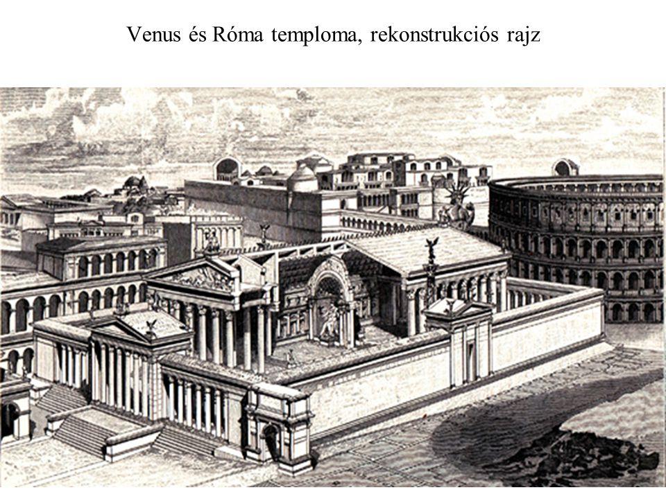 Venus és Róma temploma, rekonstrukciós rajz