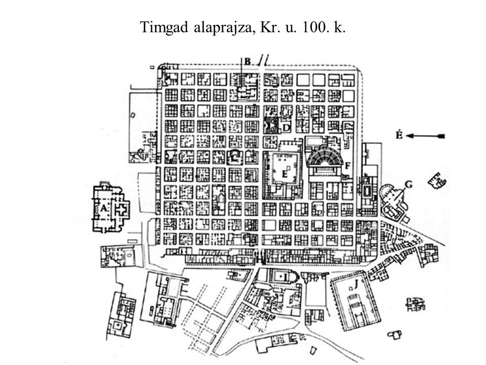 Timgad alaprajza, Kr. u. 100. k.