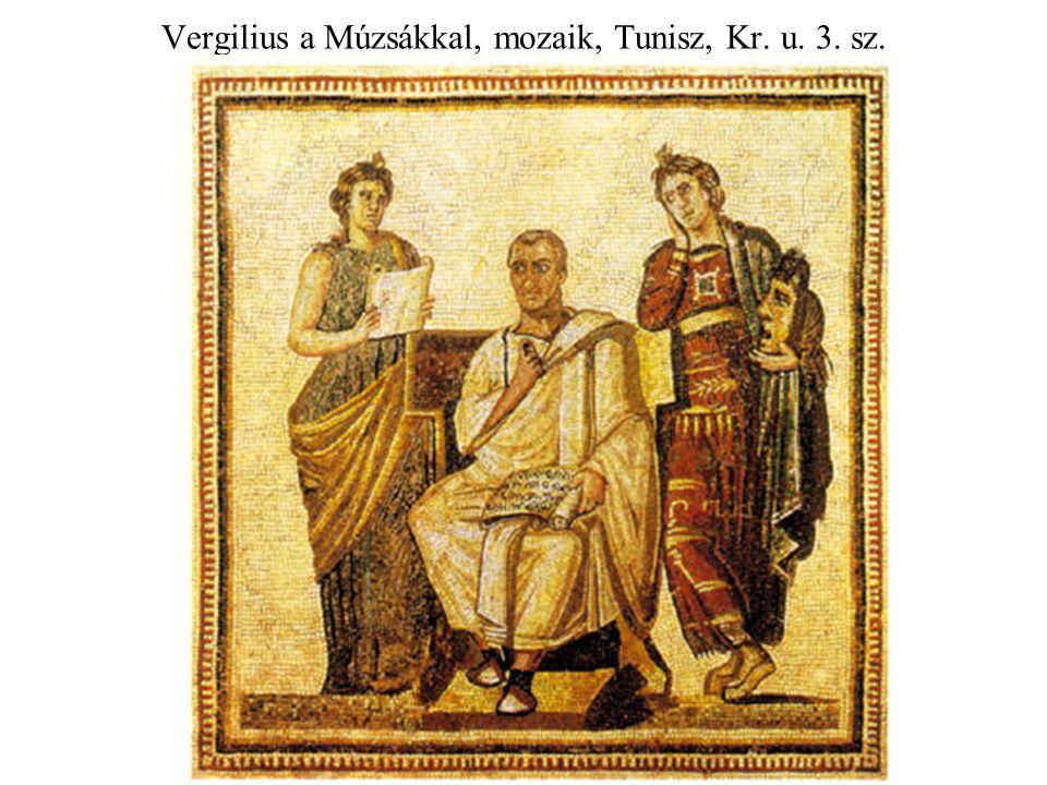 Vergilius a Múzsákkal, mozaik, Tunisz, Kr. u. 3. sz.
