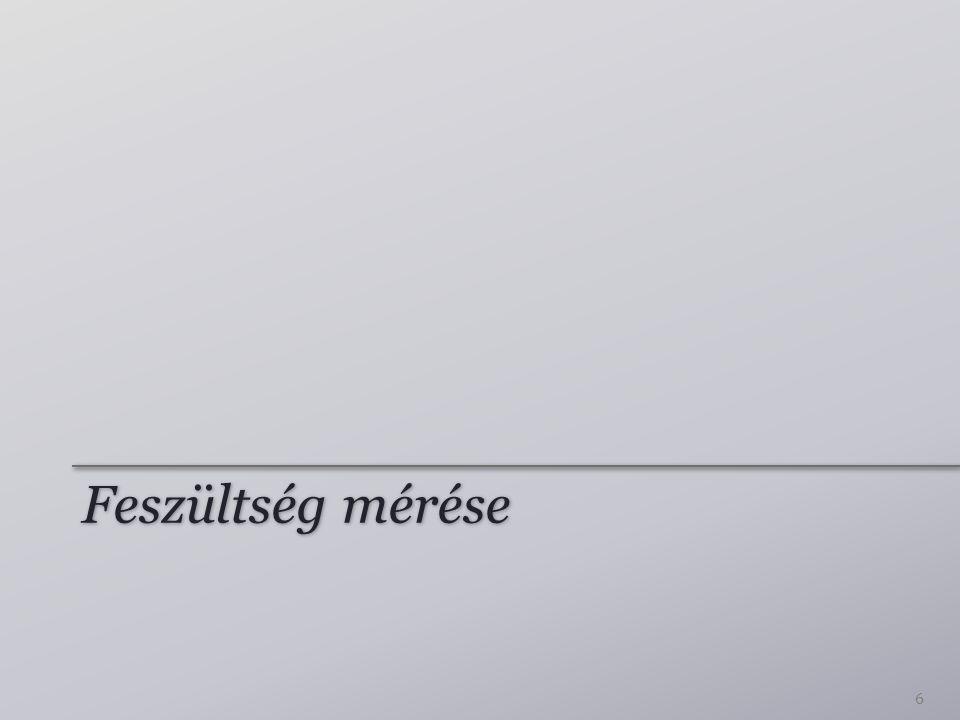 Feszültség mérése