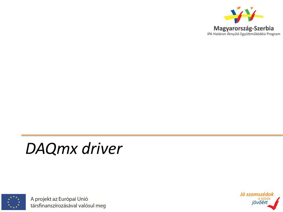 DAQmx driver