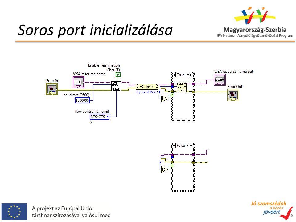 Soros port inicializálása