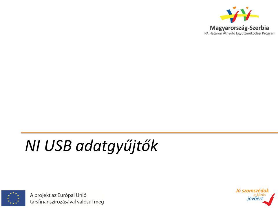 NI USB adatgyűjtők