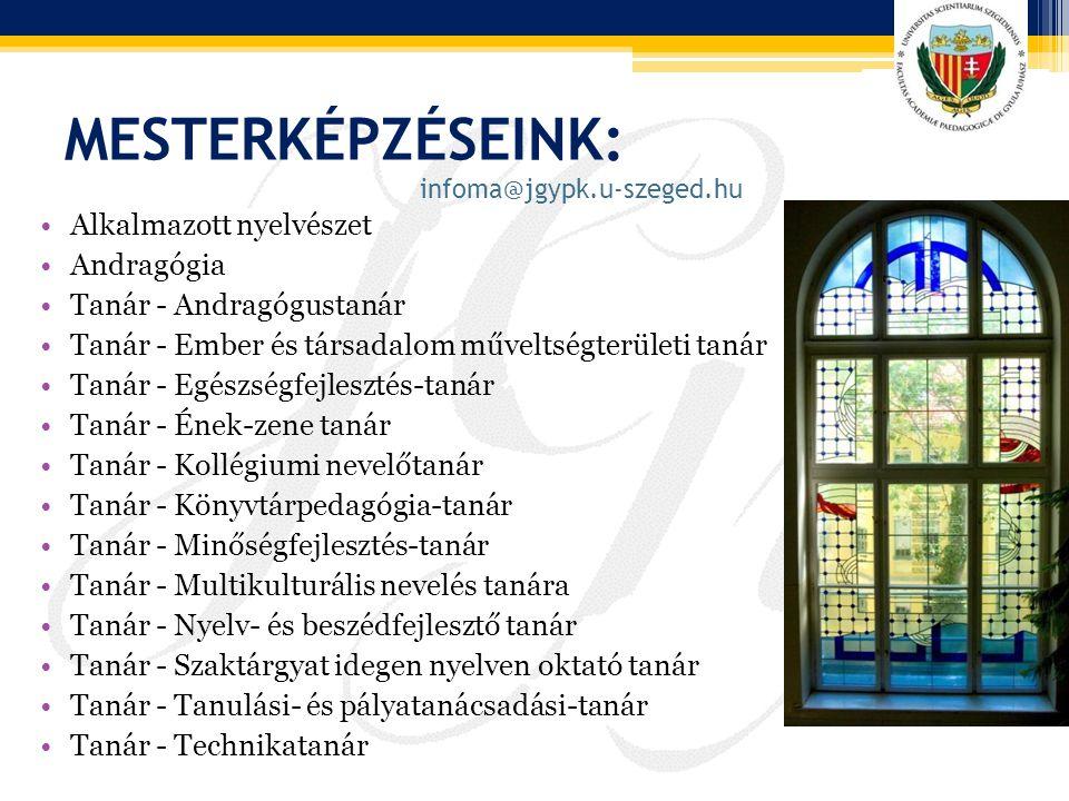 MesterképzésEINK: Alkalmazott nyelvészet Andragógia