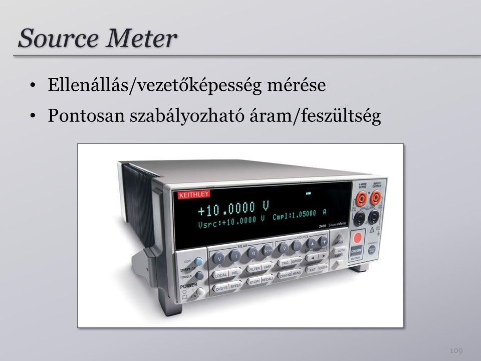 Source Meter Ellenállás/vezetőképesség mérése