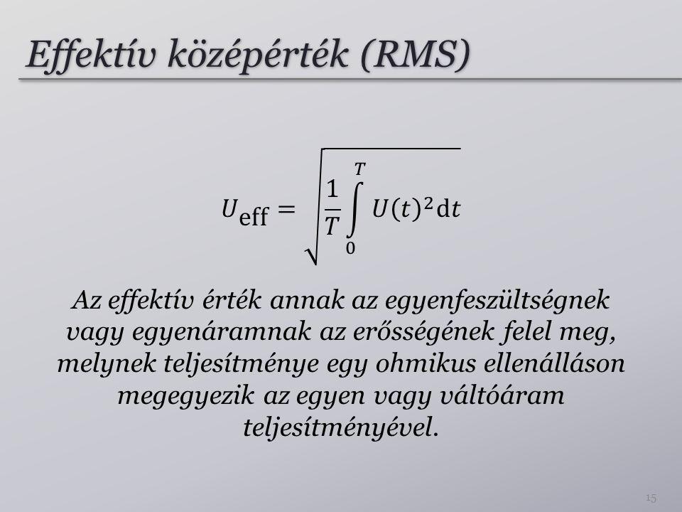 Effektív középérték (RMS)