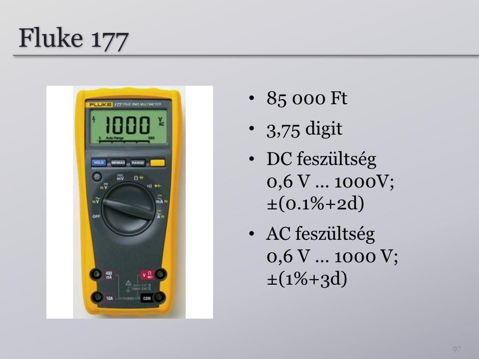 Fluke 177 85 000 Ft. 3,75 digit. DC feszültség 0,6 V ...