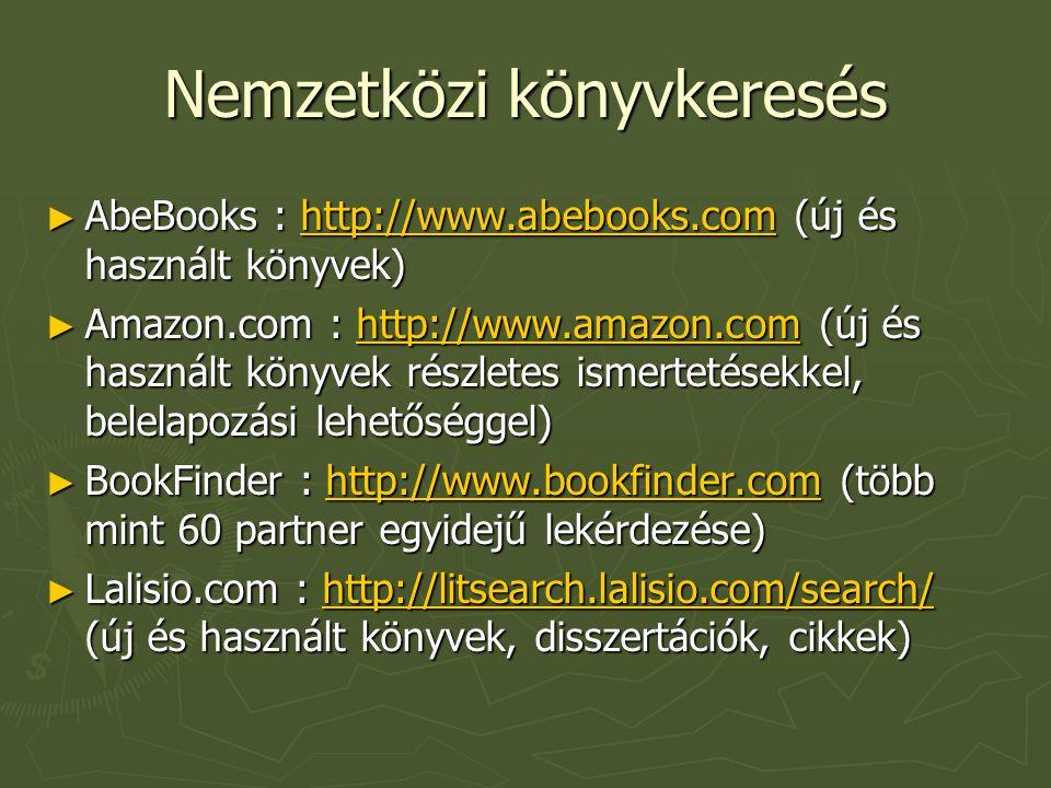 Nemzetközi könyvkeresés