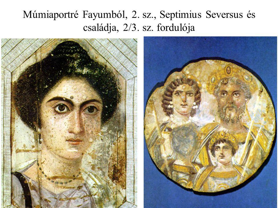 Múmiaportré Fayumból, 2. sz. , Septimius Seversus és családja, 2/3. sz