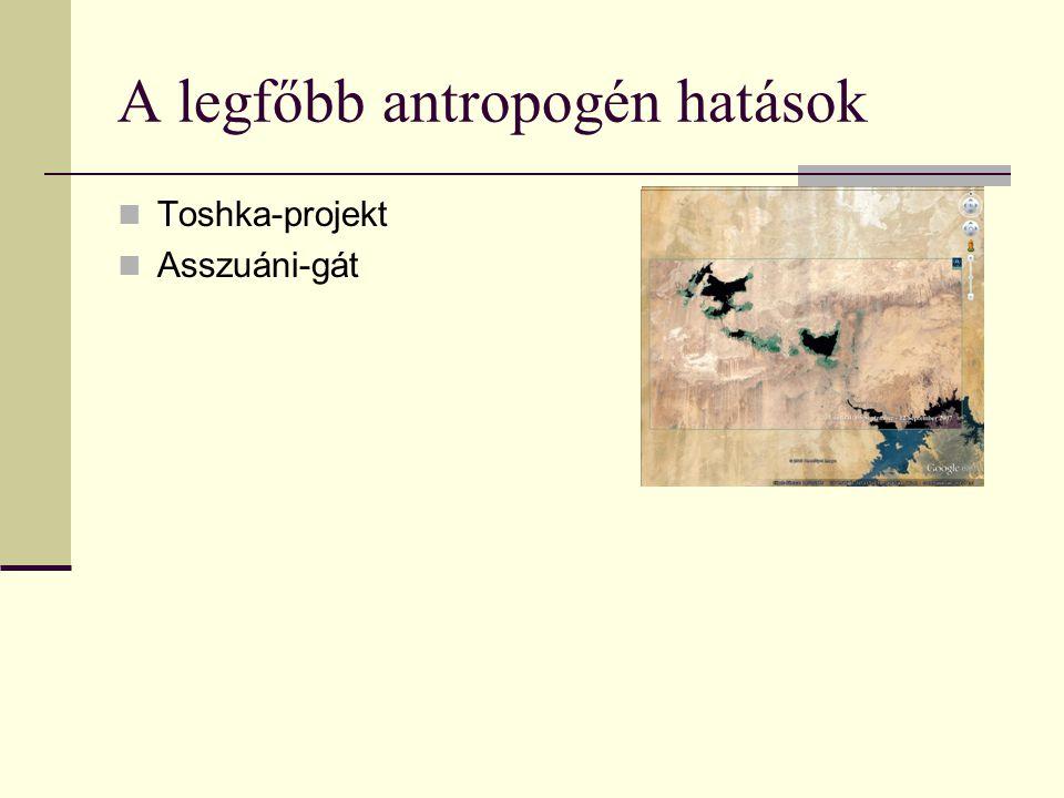 A legfőbb antropogén hatások