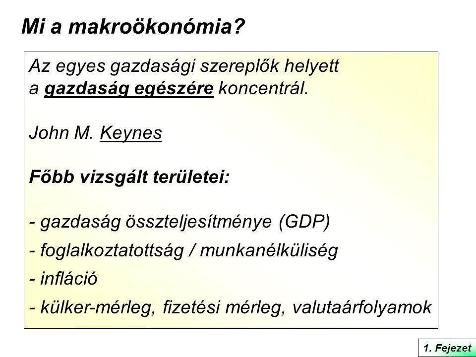 Mi a makroökonómia Az egyes gazdasági szereplők helyett