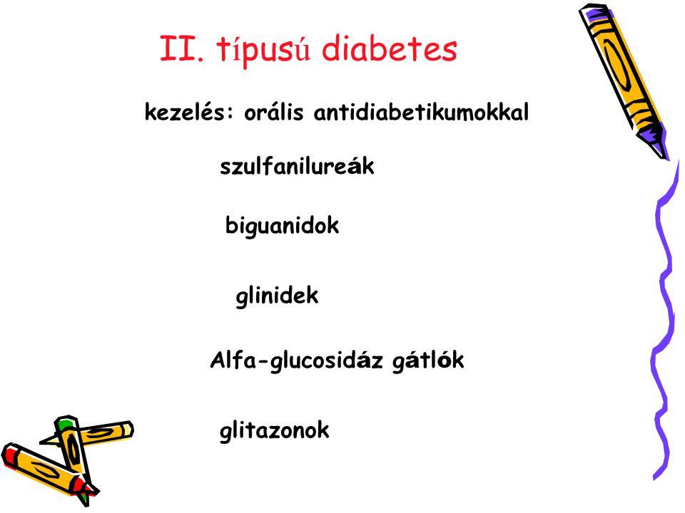 II. típusú diabetes kezelés: orális antidiabetikumokkal szulfanilureák