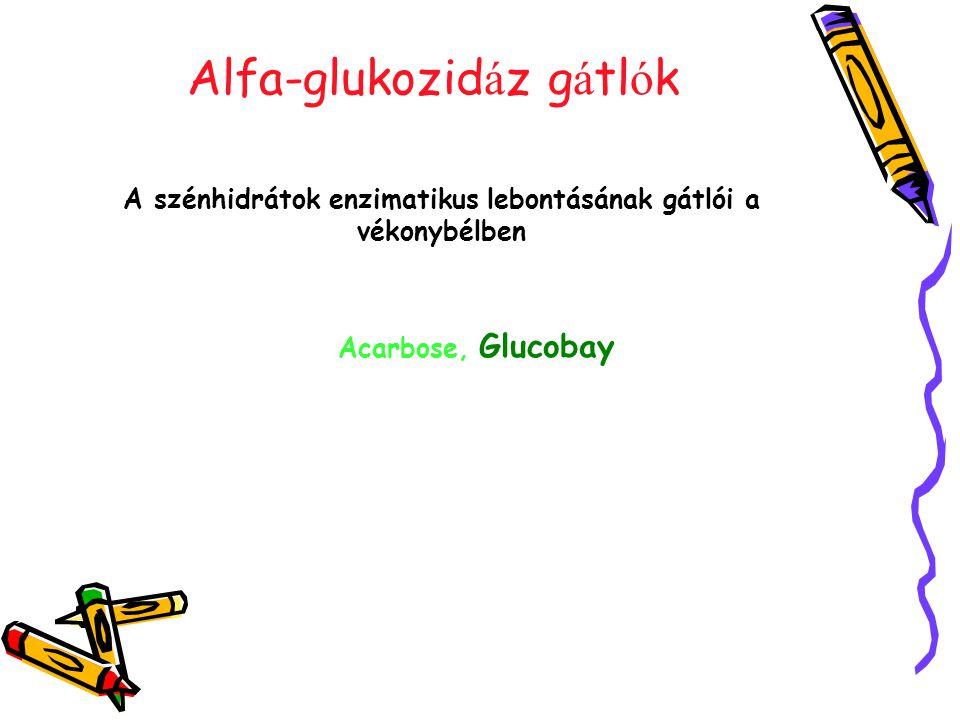 Alfa-glukozidáz gátlók