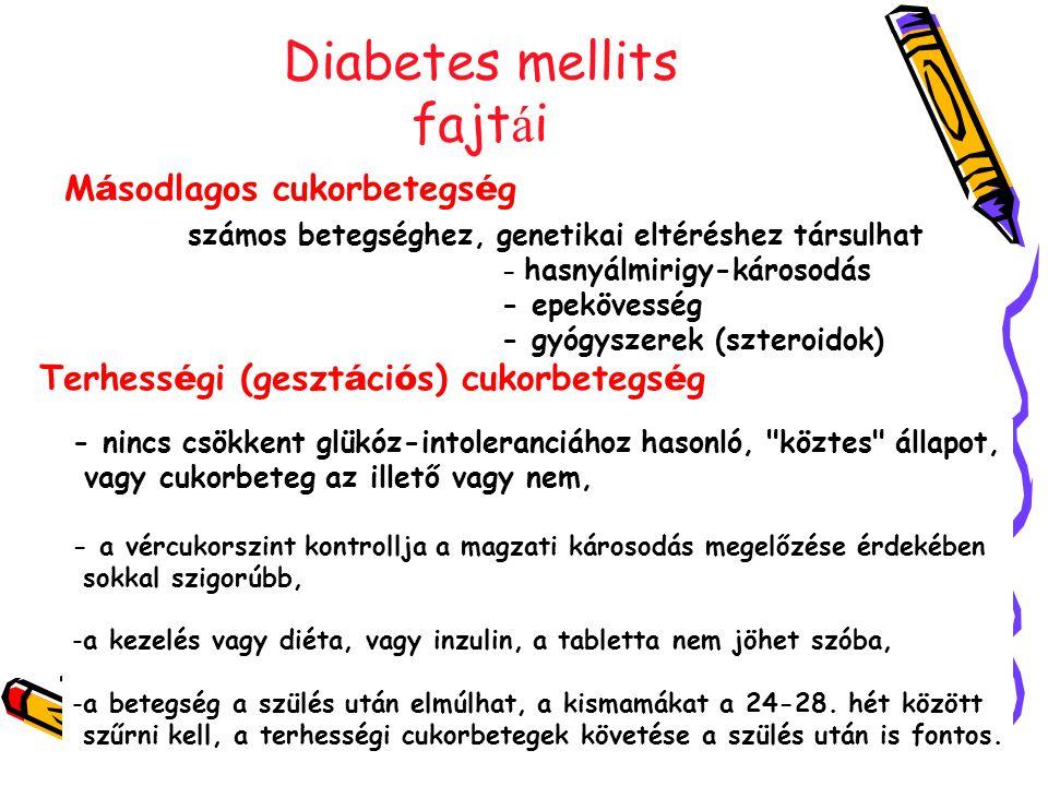 Diabetes mellits fajtái