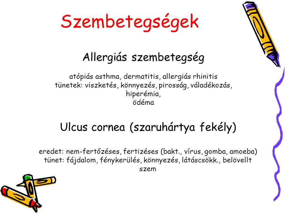 Szembetegségek Allergiás szembetegség