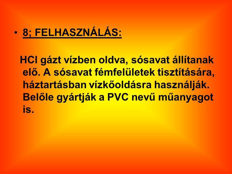 8; FELHASZNÁLÁS: