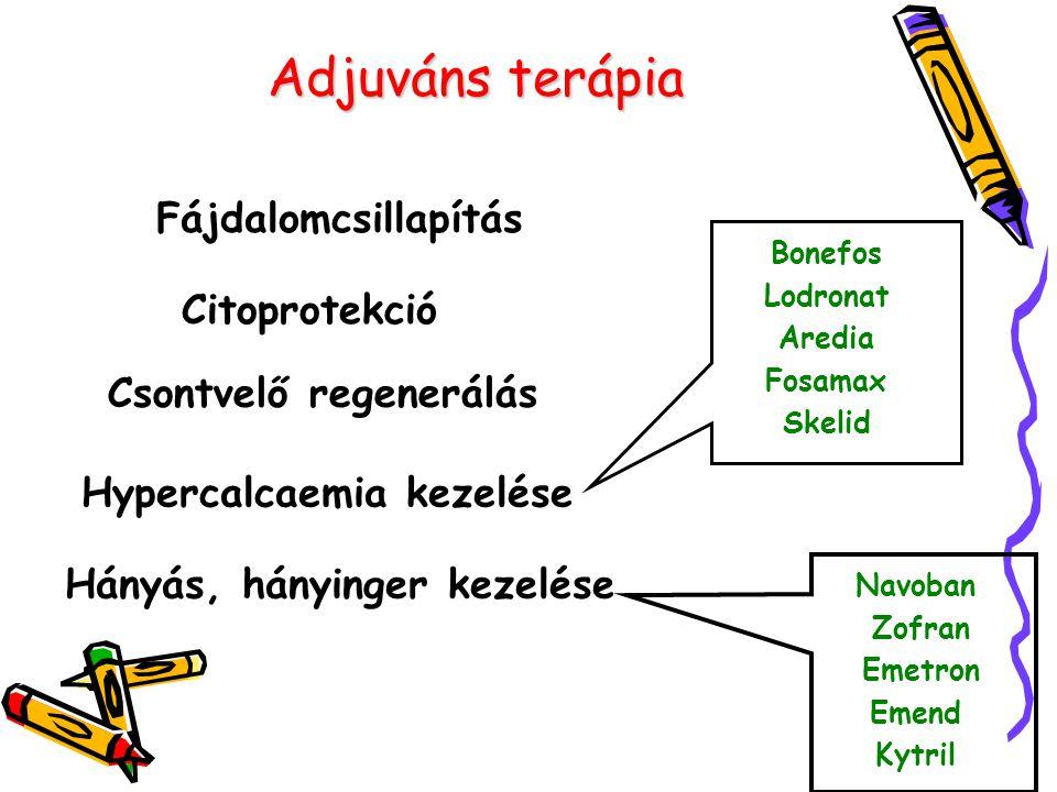 Adjuváns terápia Fájdalomcsillapítás Citoprotekció