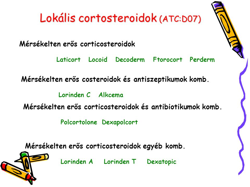 Lokális cortosteroidok (ATC:D07)