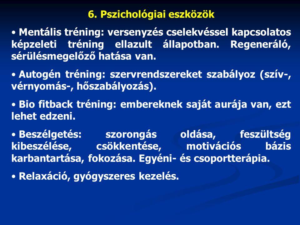 6. Pszichológiai eszközök