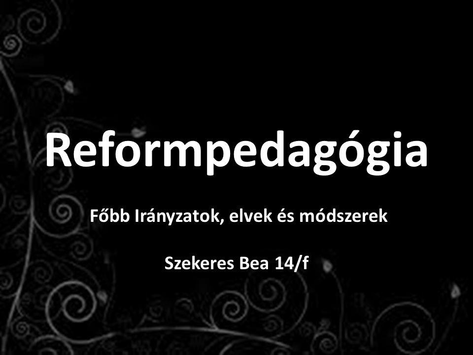 Főbb Irányzatok, elvek és módszerek Szekeres Bea 14/f