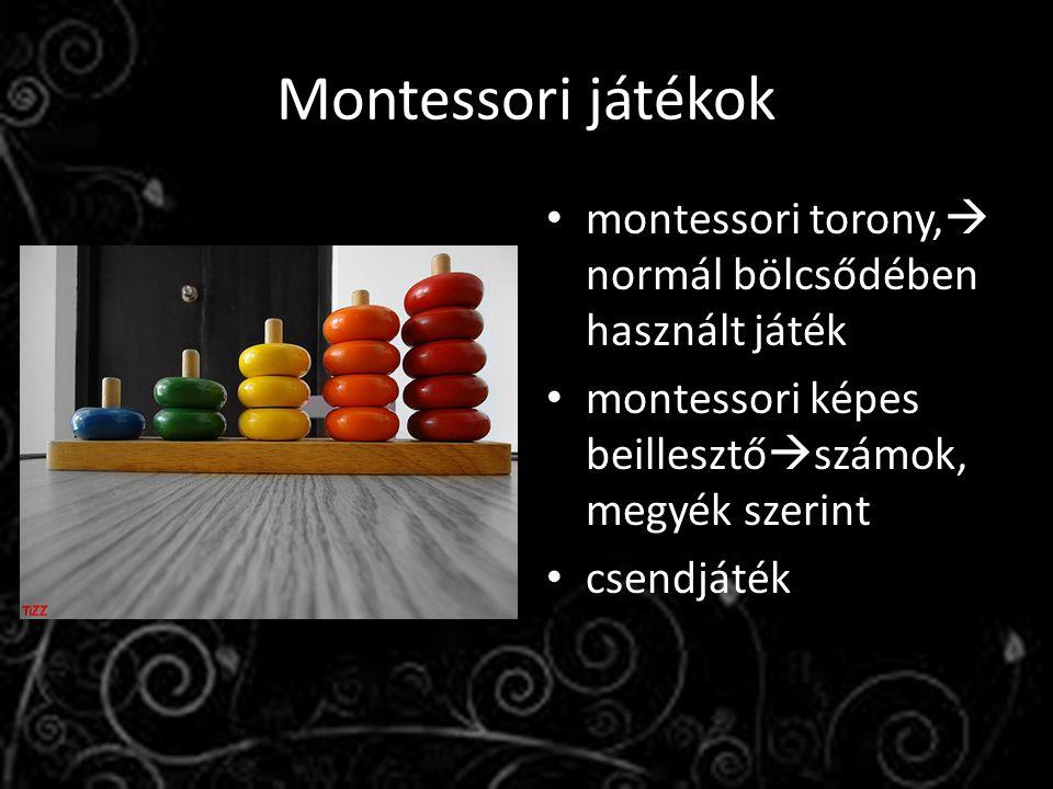 Montessori játékok montessori torony, normál bölcsődében használt játék. montessori képes beillesztőszámok, megyék szerint.