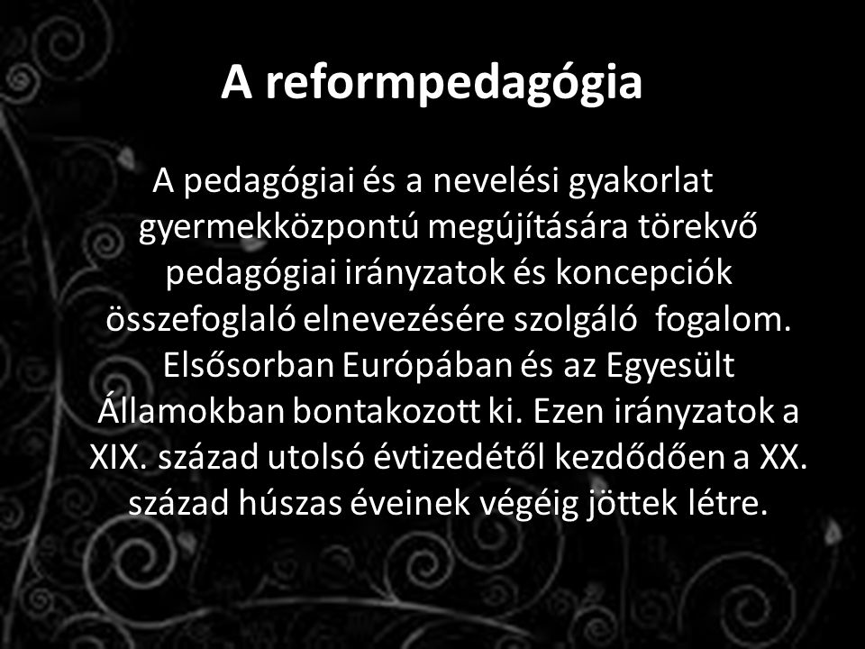 A reformpedagógia