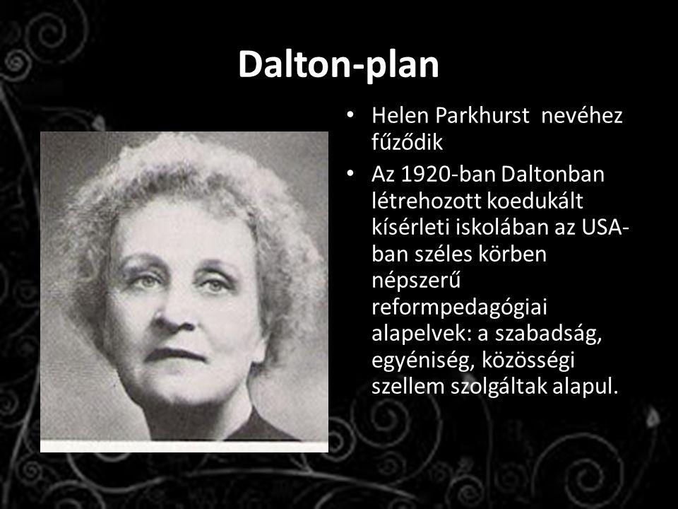 Dalton-plan Helen Parkhurst nevéhez fűződik