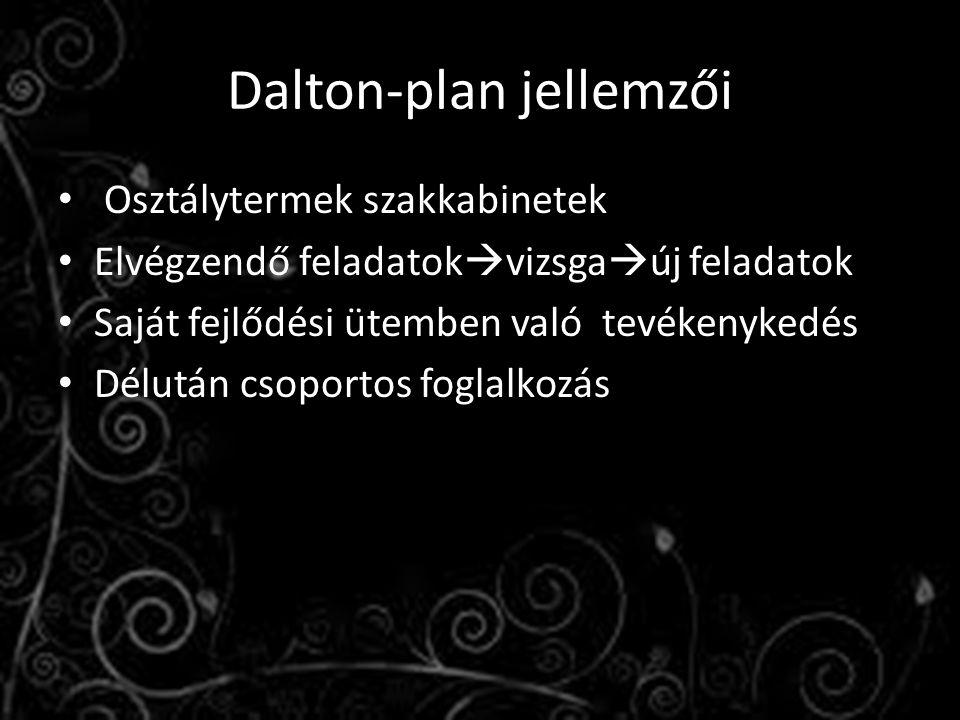 Dalton-plan jellemzői