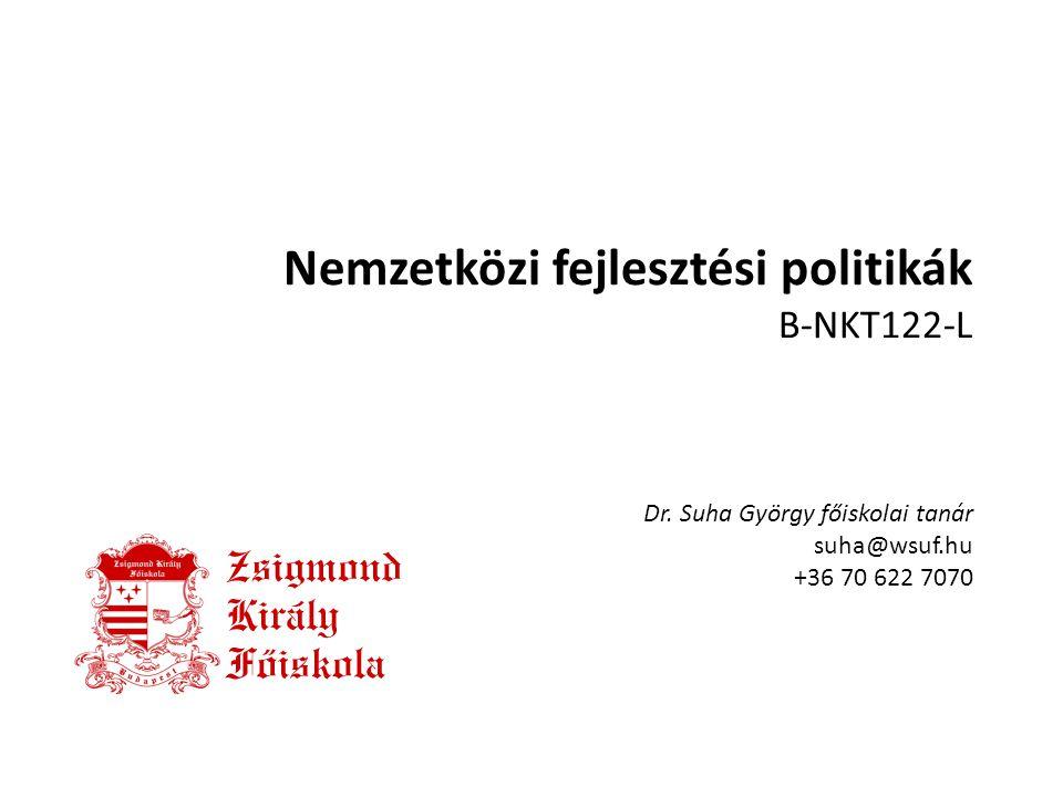 Nemzetközi fejlesztési politikák B-NKT122-L Dr
