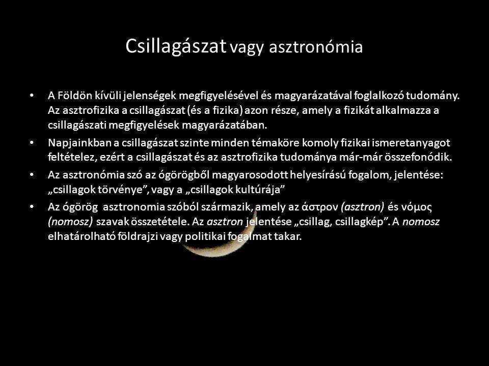 Csillagászat vagy asztronómia