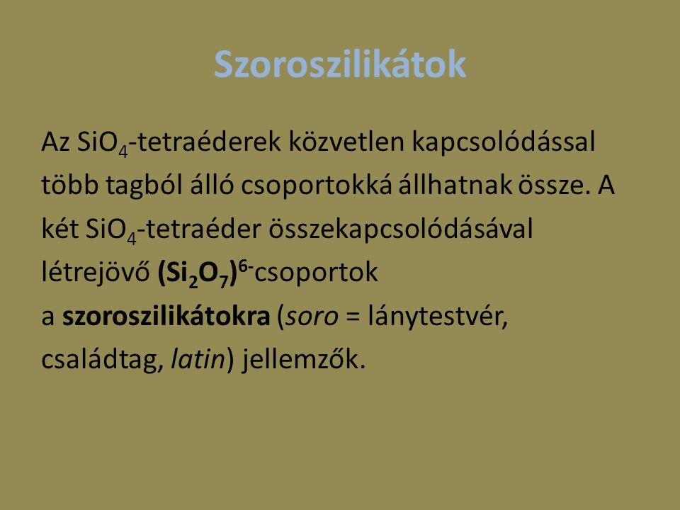 Szoroszilikátok