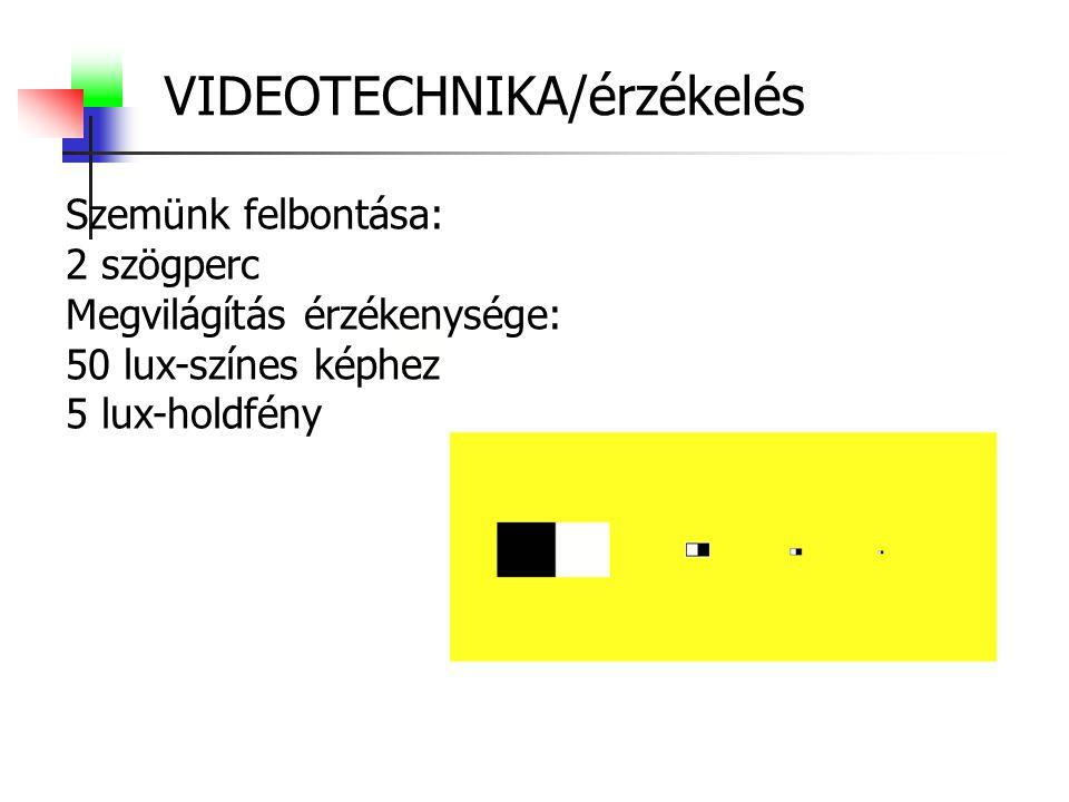 VIDEOTECHNIKA/érzékelés
