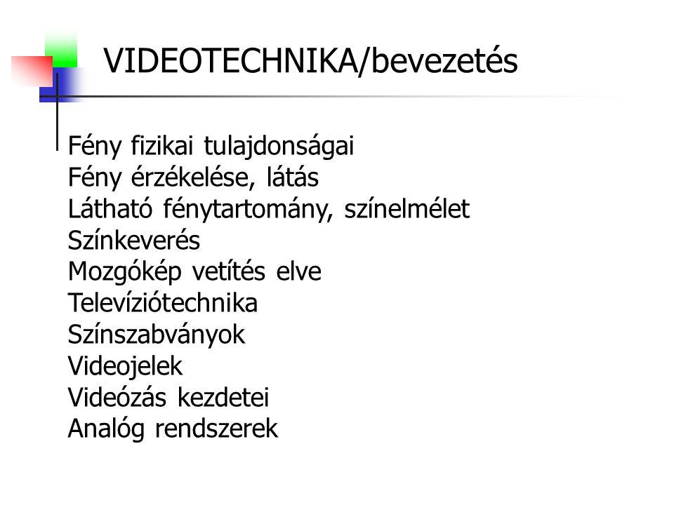 VIDEOTECHNIKA/bevezetés