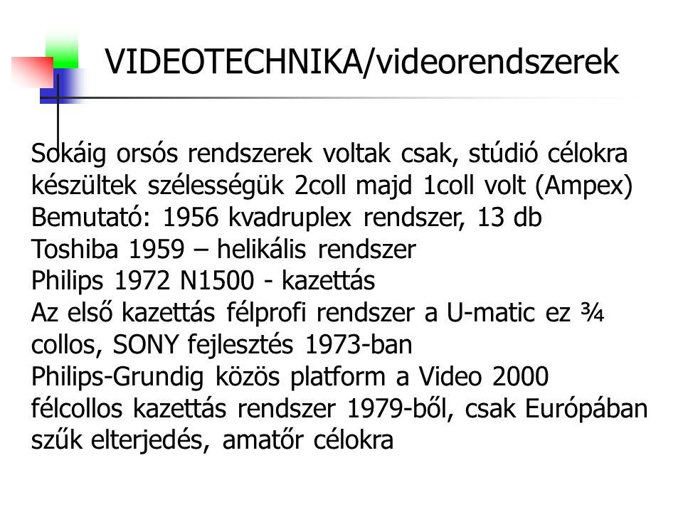 VIDEOTECHNIKA/videorendszerek
