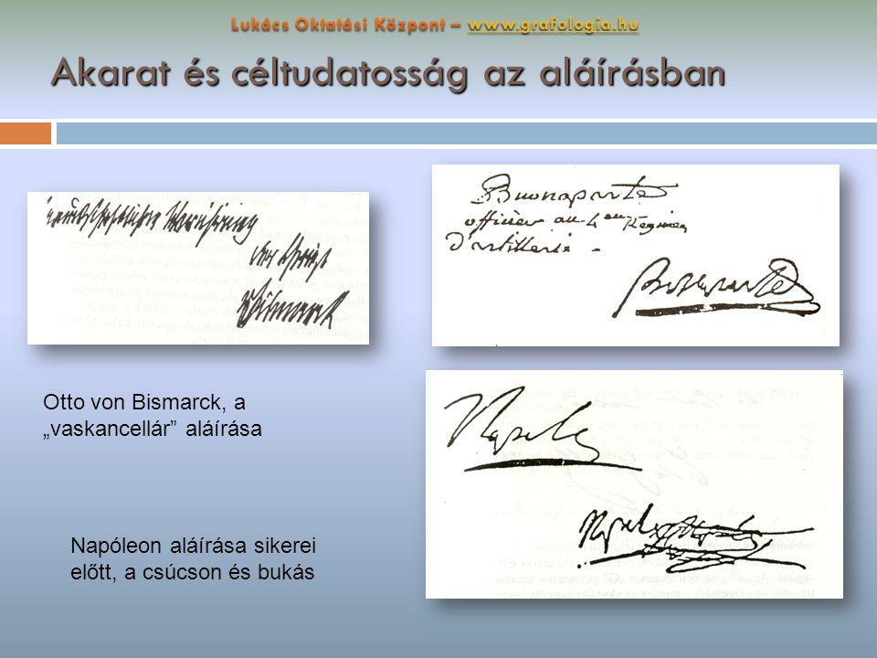 Akarat és céltudatosság az aláírásban