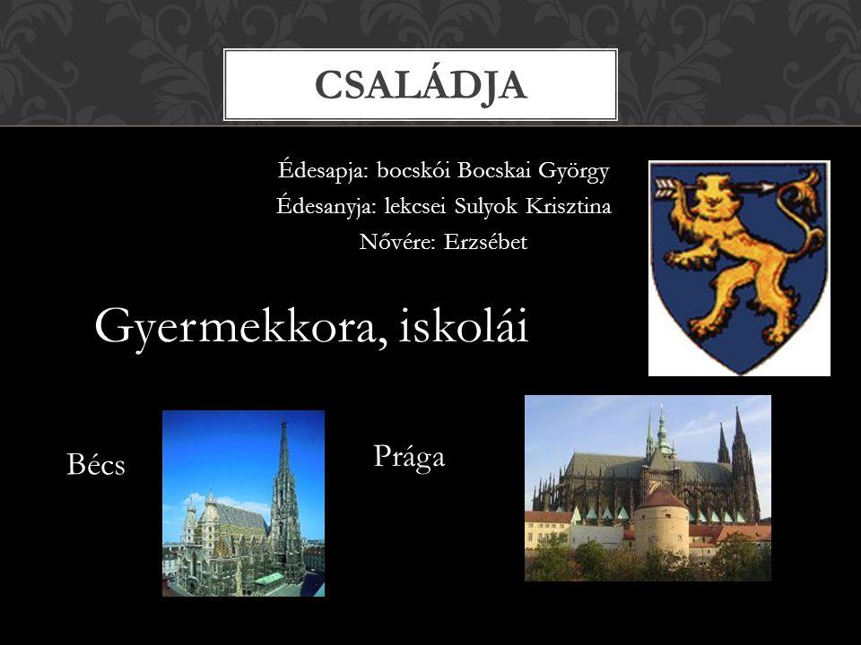 Gyermekkora, iskolái Családja Prága Bécs