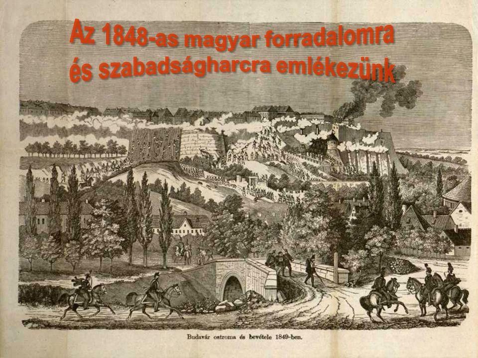 Az 1848-as magyar forradalomra és szabadságharcra emlékezünk