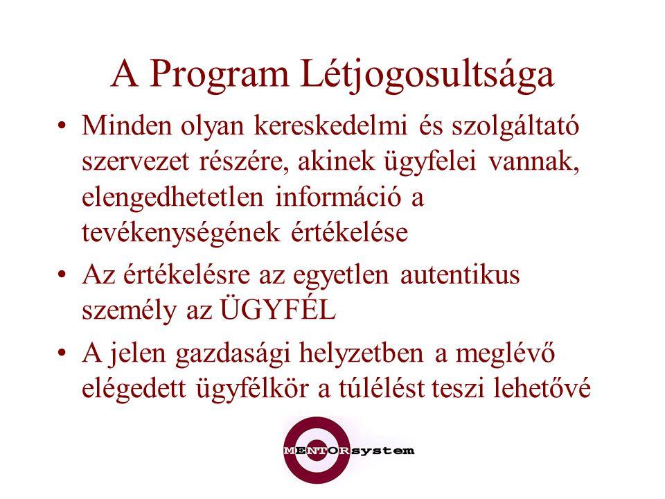 A Program Létjogosultsága